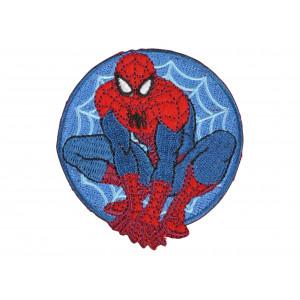 Image of   Marvel Spider-Man Rund Strygemærke 7x6,5 cm - 1 stk