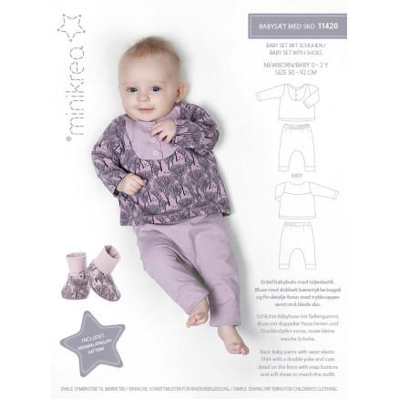 MiniKrea Snitmønster 11420 Babysæt Str. 50-92 thumbnail