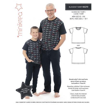 MiniKrea Snitmønster 66210 T-Shirt Dreng/Mand Str. 2-16 & XS-XXL thumbnail