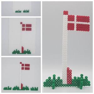 Perleflag af Rito Krea - Perlemønster Dannebrogsflag