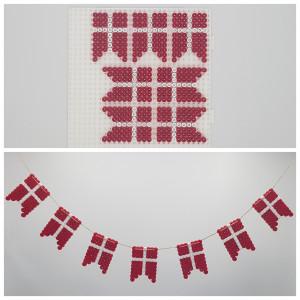 Flagranke af Rito Krea - Perlemønster Flagranke med Dannebrog
