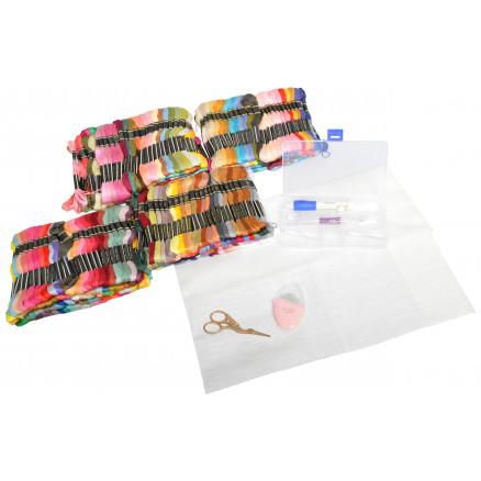 Infinity Hearts Mega Broderipakke 8 meter dukker i ass. farver - 500 s