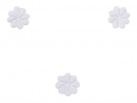 Strygemærker Hvid Blomst 2cm - 3 stk thumbnail