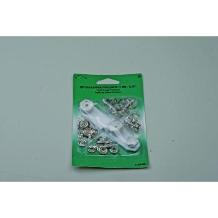 Jersey Trykknapper 11mm Sølv - 12 sæt thumbnail