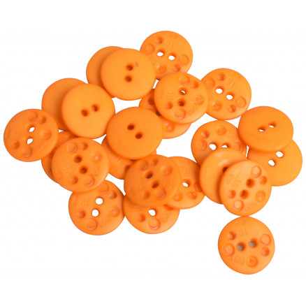 Knapper Plastik Orange 11mm - 40 stk thumbnail