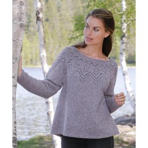 Agnes Sweater by DROPS Design - Bluse Strikkeopskrift str. S - XXXL