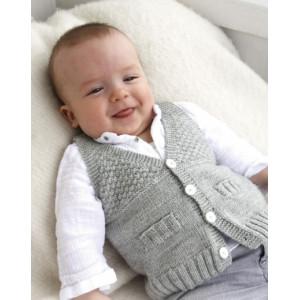Junior by DROPS Design - Baby Vest Strikkeopskrift str. 1/3 mdr - 3/4 år