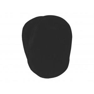 Albuelapper Imiteret Ruskind Oval Sort 10x15 cm - 2 stk