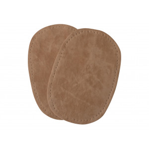 Albuelapper Imiteret Ruskind Oval Beige 10x15 cm - 2 stk