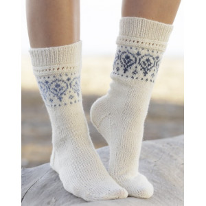 Nordic Summer Socks by DROPS Design - Sokker Strikkeopskrift str. 35/37 - 41/43