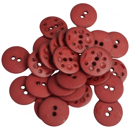 Image of   Knapper Plastik Bordeaux 18mm - 30 stk