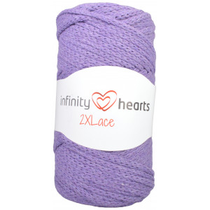 Infinity Hearts 2XLace Garn 20 Mørk Lilla
