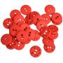 Knapper Plastik Rød 15mm - 30 stk