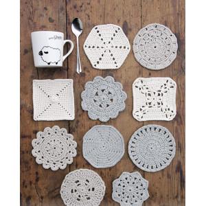 Bright Side Coasters by DROPS Design - Bordskånere Hækleopskrift 10-12 cm