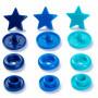Prym Love Color Snaps Trykknapper Plast Stjerne 12,4mm Ass. Blå nuancer - 30 stk