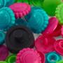 Prym Love Color Snaps Trykknapper Plast Blomst 13,6mm Ass. Pink/Grøn/Turkis - 30 stk