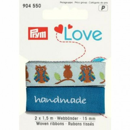 Image of   Prym Love Bånd Ugle 15mm 2 x 1,50m