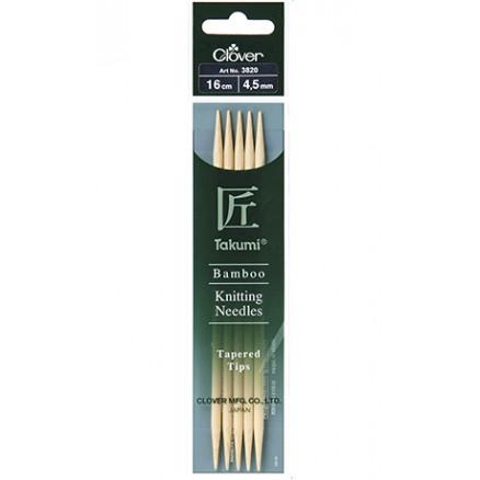 Image of   Clover Takumi Strikkepinde Bambus 16cm 4,50mm