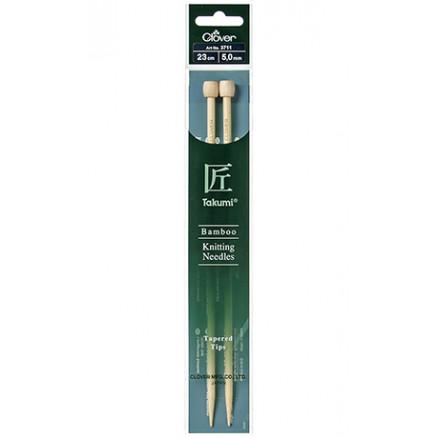Image of   Clover Takumi Strikkepinde Bambus 23cm 5,00mm