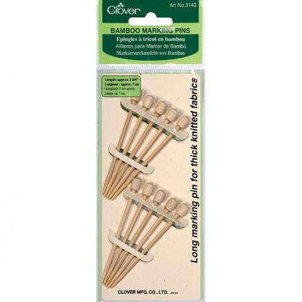 Image of   Clover Bambus Markeringspinde 7cm - 10 stk