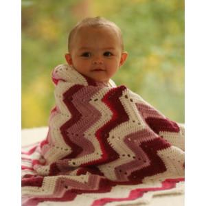 Baby Snug by DROPS Design - Tæppe Hækleopskrift 65/75 x 83 cm