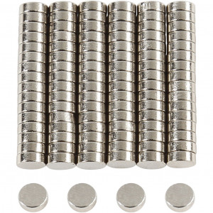Powermagnet, diam. 5 mm, tykkelse 2 mm, 100stk.