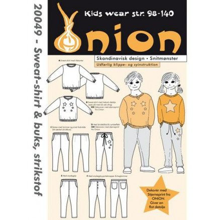 ONION Snitmønster Kids 20049 Sweat-Shirt & Buks Str. 98-140/2-10 år thumbnail