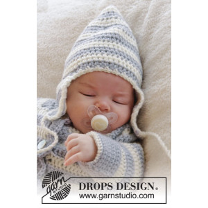 Baby Blues Hat by DROPS Design - Baby Hue str. 0/3 mdr - 2/4 år