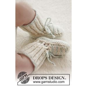 First Impression Booties by DROPS Design - Baby Tøfler Strikkeopskrift str. præmatur - 3/4 år