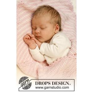 Dream Date by DROPS Design - Baby Tæppe Strikkeopskrift 34x51 cm eller 50x75 cm
