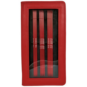 Järbo Röd Strømpepinde Aluminium Sæt 2,5-4,5 mm 5 størrelser