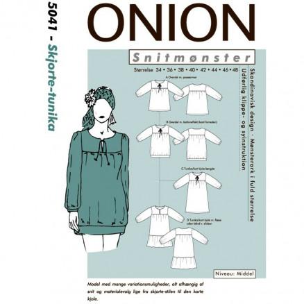 ONION Snitmønster 5041 Skjorte - Tunika Str. 34-48 thumbnail