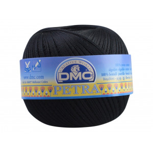 DMC Petra nr. 8 Hæklegarn Unicolor 5310 Sort
