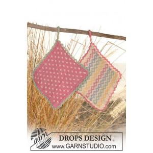 Mønster Grydelapper by DROPS Design - Grydelapper Strikkeopskrift 16x16 cm eller 24x24 cm