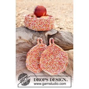 Bright Summer by DROPS Design - Kurv og Grydelapper