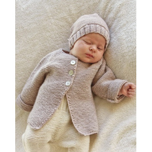 Sleep Tight by DROPS Design - Baby Jakke med raglan Strikkeopskrift str. Præmatur - 4 år