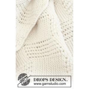 Baby Cloud by DROPS Design - Baby Tæppe Strikkeopskrift 70x94 cm