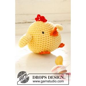 Chicken Little by DROPS Design - Påskekylling Hækleopskrift 12 cm