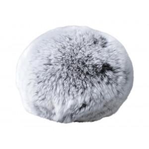 Pompon Kvast Rex Kaninhår Grå 100 mm