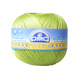 DMC Petra nr. 5 Hæklegarn Unicolor 5907 Æblegrøn