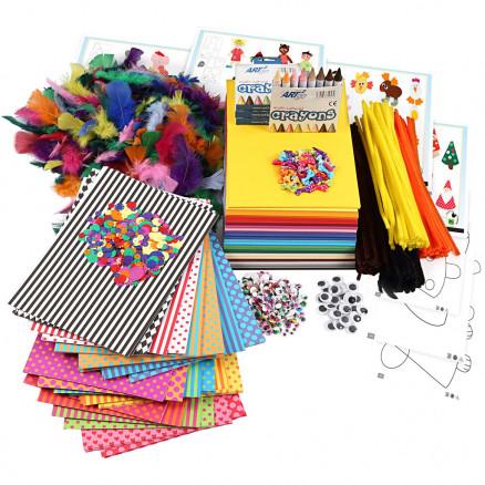 Stor kreapakke med materialer og skabeloner, 1sæt thumbnail