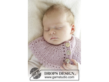 Image of   Serene by DROPS Design - Baby Halsedisse Strikkeopskrift str. 0/3 mdr