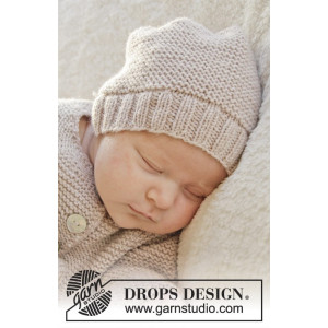 In my dreams by DROPS Design - Baby Hue Strikkeopskrift str. Præmatur - 3/4 år
