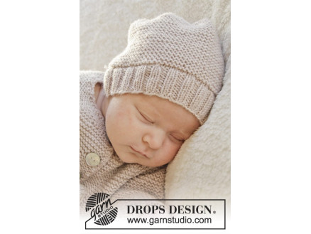 Image of   In my dreams by DROPS Design - Baby Hue Strikkeopskrift str. Præmatur