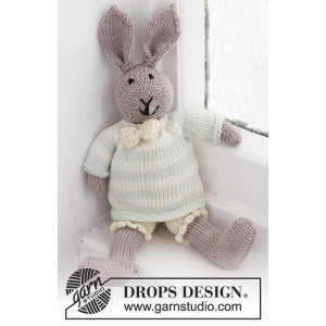 Mr. Bunny by DROPS Design - Baby Bamse Strikkeopskrift