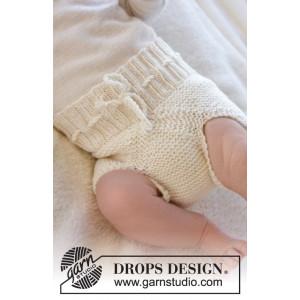 Pampered by DROPS Design - Baby Underbukser Strikkeopskrift str. Præmatur - 3/4 år
