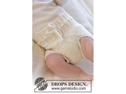 Pampered by DROPS Design - Baby Underbukser Strikkeopskrift str. Præma thumbnail