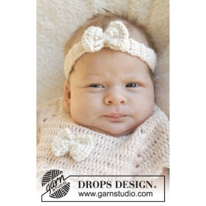 Baby Butterfly by DROPS Design - Baby Hårbånd Hækleopskrift str. 0/1 mdr - 3/4 år