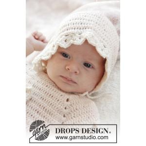 Camille by DROPS Design - Baby Kyse Hækleopskrift str. 0/1 mdr - 3/4 år