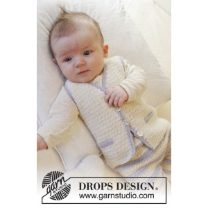 Heartthrob Vest by DROPS Design - Baby Vest Hækleopskrift str. 1/3 mdr - 3/4 år